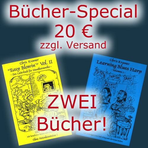 Bücher-Special: Easy Blowin' Vol. II & Learning Bluesharp