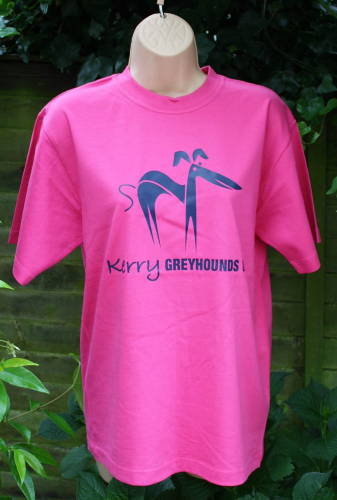 Round Neck T-Shirt - Hot Pink X Large