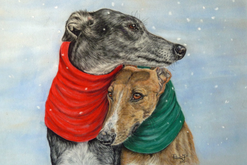 Christmas Card - Nell and Nina