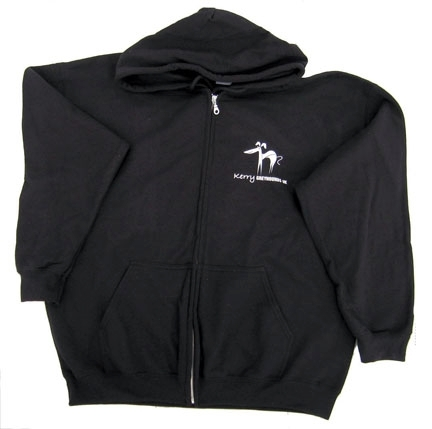 Hoodie (Zipped) - Black - Large