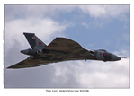 The Last Avro Vulcan XH558 - A4 Mounted Photo
