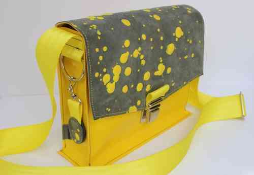 Vera Inky dots yellow/grey