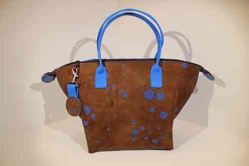 Audrey S Inky dots blue/brown