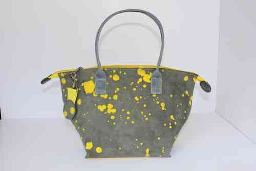 Audrey S Inky dots yellow/grey