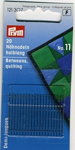 Handarbeitsnadeln - Betweens Quilting, fein Nr. 11