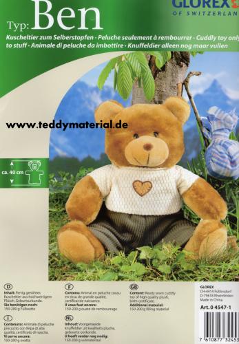 Glorex - Teddy Ben - Teddybär zum Selberstopfen - Pummbaeren ...