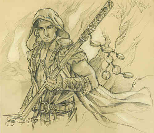 "Original Sketch ""Honored Hierarch"" Magic the Gathering"