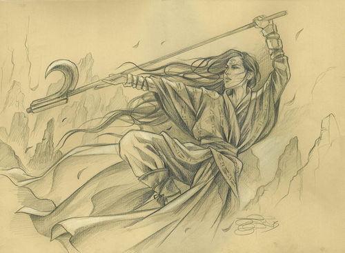 "Original Sketch ""Narset, Enlightened Master"" Magic the Gathering"