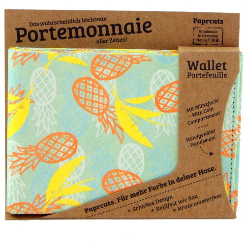 Portemonnaie aus Tyvek® - Pinnapples (Big)